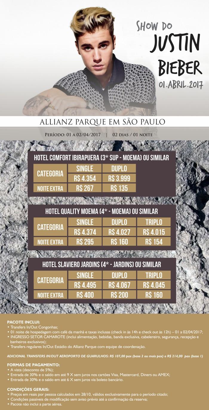 Show de Justin Bieber   Dia 31/03/2017 no Allianz Parque em São Paulo ...